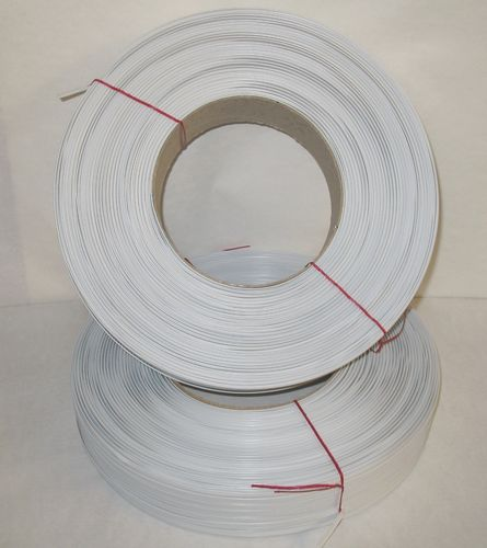 Kunststoff-Clipband Rolle 2/6 - 600 m - weiss
