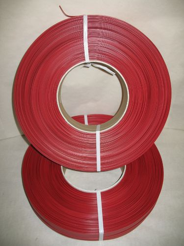 Kunststoff-Clipband Rolle 2/6 - 600 m - rot